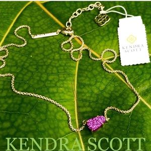 KENDRA SCOTT Helga druzy pendant necklace